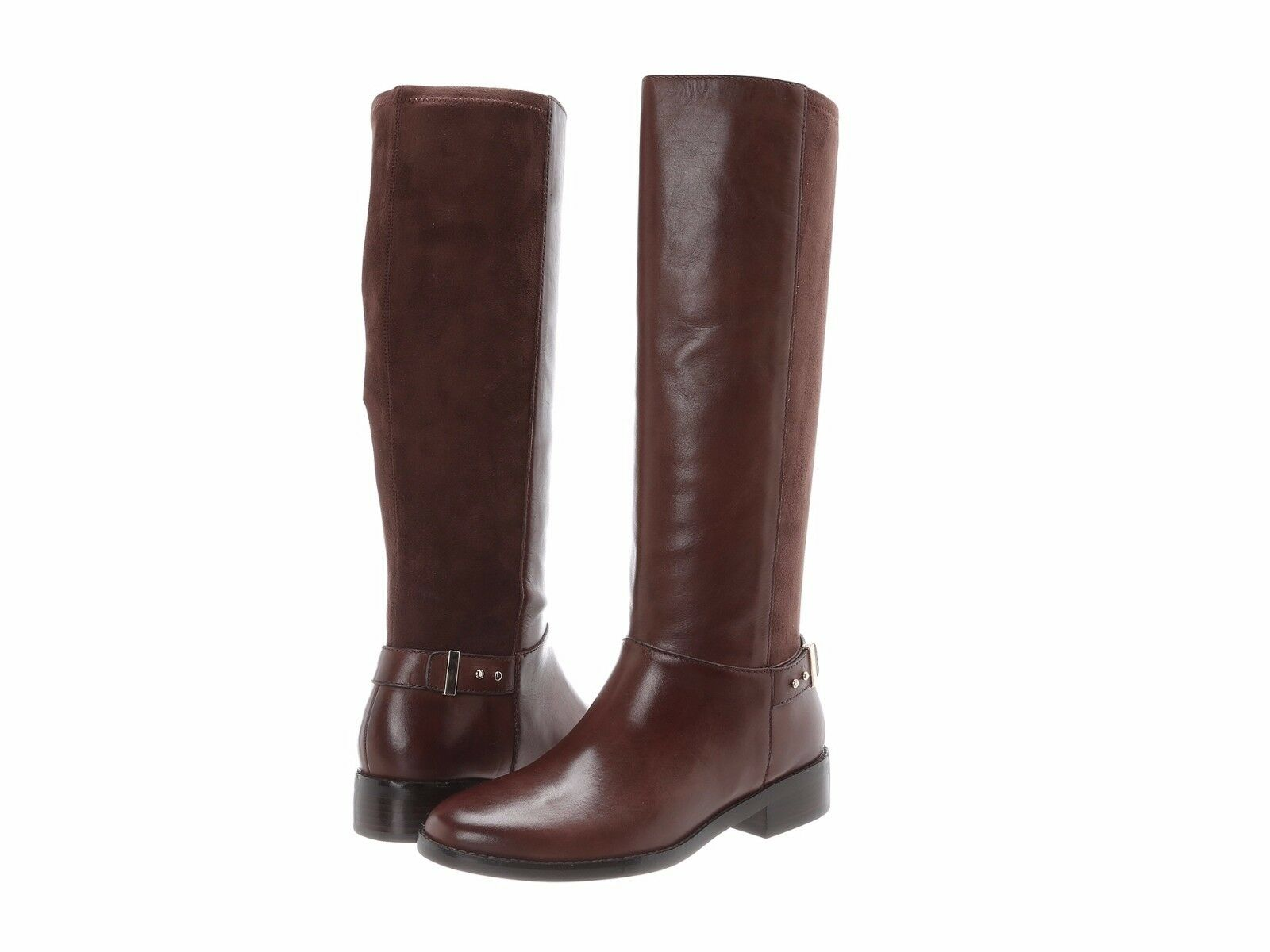 Cole Haan Adler Tall Riding stivali Chestnut Marronee Leather Dimensione 5M New MSRP  378