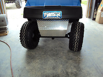 Aluminum Diamond Plate Front Bumper Shock Cover for EZGO TXT/PDS Golf Cart 94 up