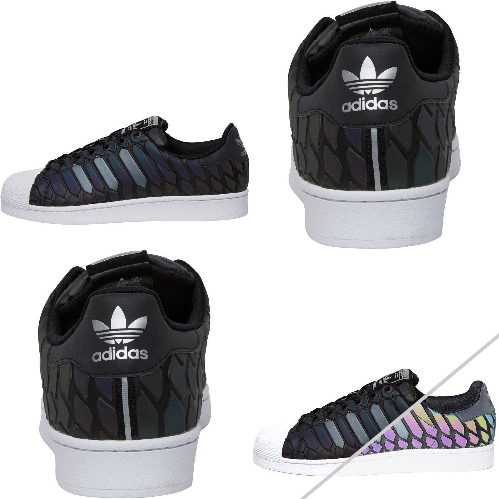 Adidas Originals Para Hombre Superstar Zapatillas Nuevo Tamaño 5 -18 AdiColor Clásico Negro