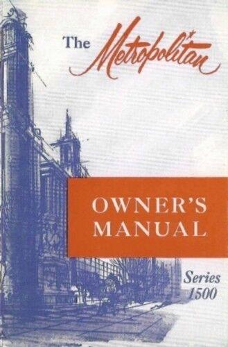 NASH METROPOLITAN 1955-1957 Owner/'s Manual