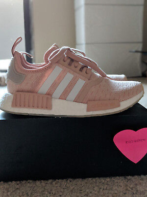 Adidas NMD_R1 Runner W Nomad Women's Ash Pearl Chalk Pink 3M White ...