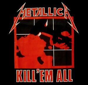 METALLICA-cd-cvr-KILL-039-EM-ALL-Official-Black-SHIRT-Size-LRG-new