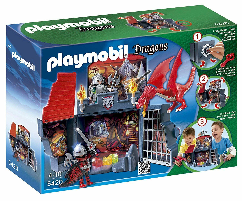 Playbobil Dragons 5420.Kassaskåp på Drag-Die-65533;65533.n. av 4 till tio år