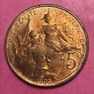#313 - Rare - 5 Centimes 1906 Dupuis Sup/spl - Facture PosséDer Des Saveurs Chinoises