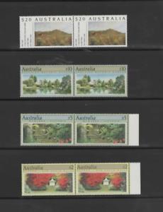 AUSTRALIA-1989-BOTANIC-GARDENS-SET-IN-PAIRS-SG-1199-1201a-MNH