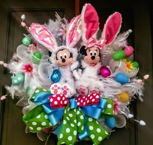 Handmade-26-034-Mickey-Mouse-Minnie-Mouse-Easter-Wreath-XL-Easter-Door-Decor