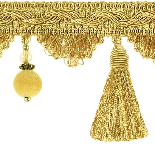 Lujo quastenborte m corales 80mm oro decorativa posamentenborte cruzabas barroco