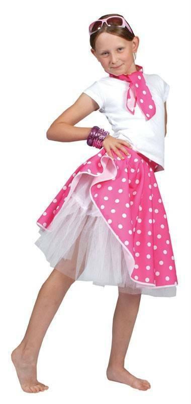 1950 Pink Rock N Roll Polka Dot Jupe #fr