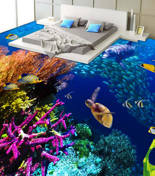 3D Schöne Fische im Meer 8 Fototapeten Wandbild Fototapete BildTapete Familie DE