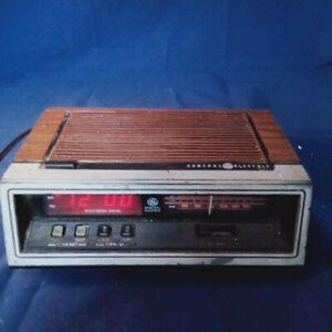 GE-General-Electric-Digital-Alarm-And-Radio-Vintage-works-well-needs-antenna