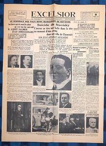 La-Une-Du-Journal-Excelsior-Mardi-9-Janvier-1934-Suicide-De-Stavitski