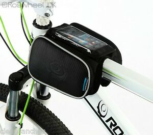 BIKE-MOBILE-PHONE-DOUBLE-FRAME-BAG-TOP-TUBE-CROSS-BAR-PANNIER-ROSWHEEL-UK-12813