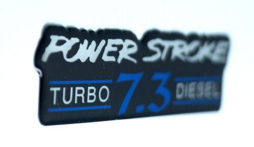 POWERSTROKE 7.3 TD EMBLEM BLUE//BLACK SATIN CHROME