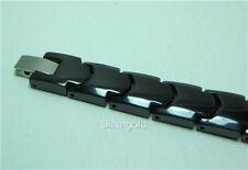 """MEN 12MM BLACK CERAMIC & TUNGSTEN MAGNETIC Bracelet Length: 8.25"""""""