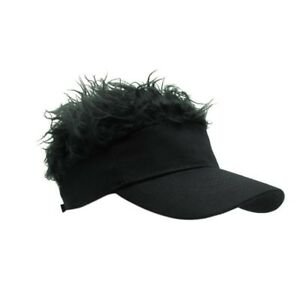 d0304171ad763 Details about USA Funny HAIR BASEBALL CAP Costume Hat Hook With Loop  Adjustable Sun Visor Cap