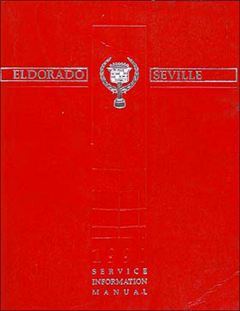 1990 Cadillac Eldorado And Seville Original Shop Manual