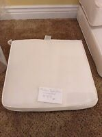 Frontgate Melano Lounge Outdoor Dining Patio Pool Chair Cushions 20x20x3 White