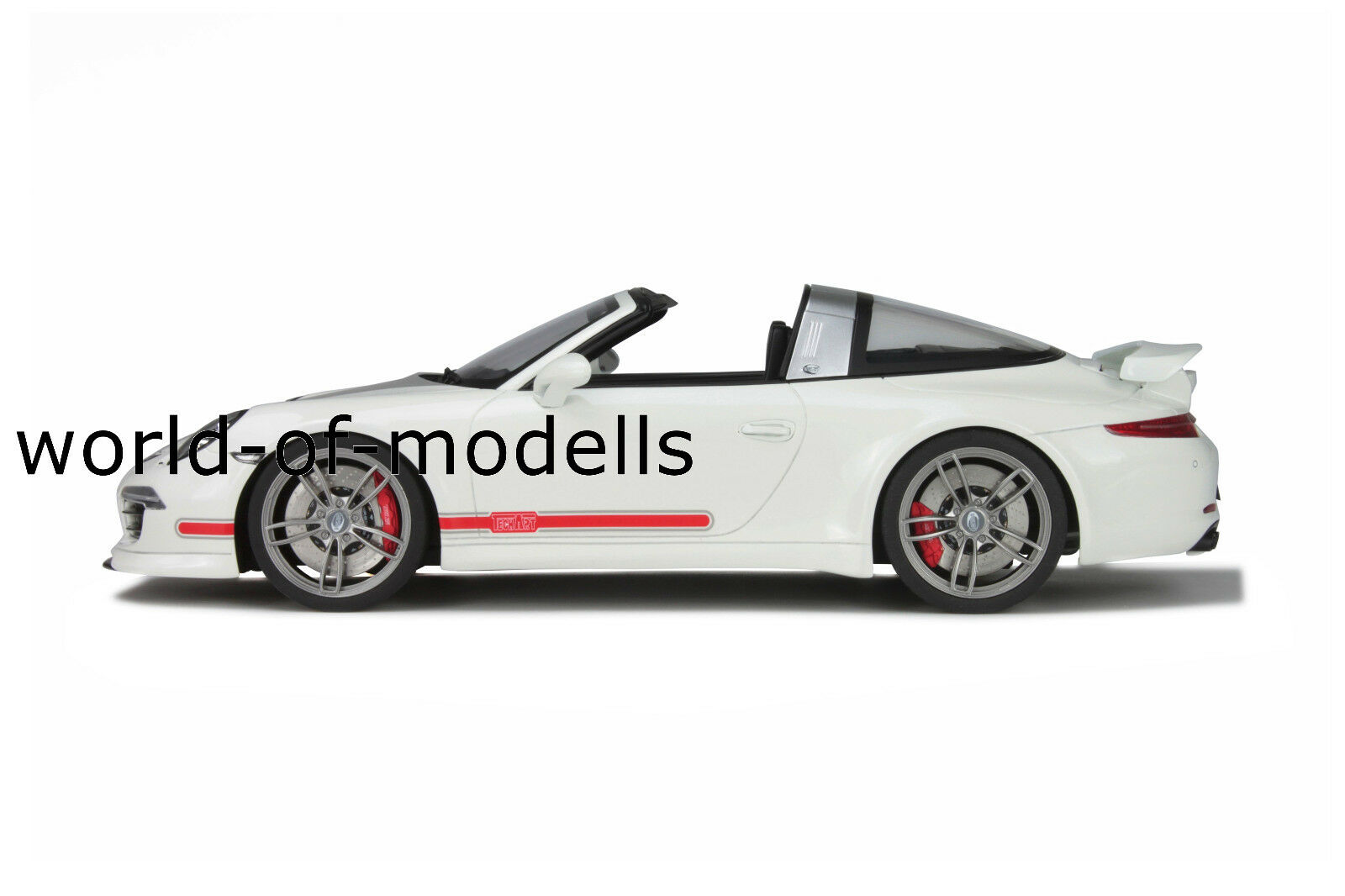 Gt Spirit 108 Porsche 911 991 techart Targa Weiss 2014 1 18 nuevo en OVP
