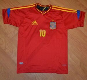 new products b3a1a c455f Details about Spain National Team Football Soccer Jersey Fabregas Youth  Large 16 Nice Adidas
