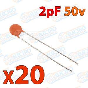 X20 220pF condensador ceramico x 20 unidades 50v