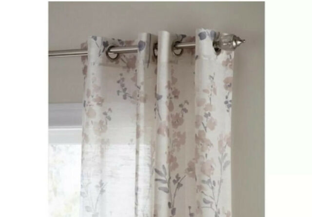 Blush Semi Sheer Grommet Single Curtain