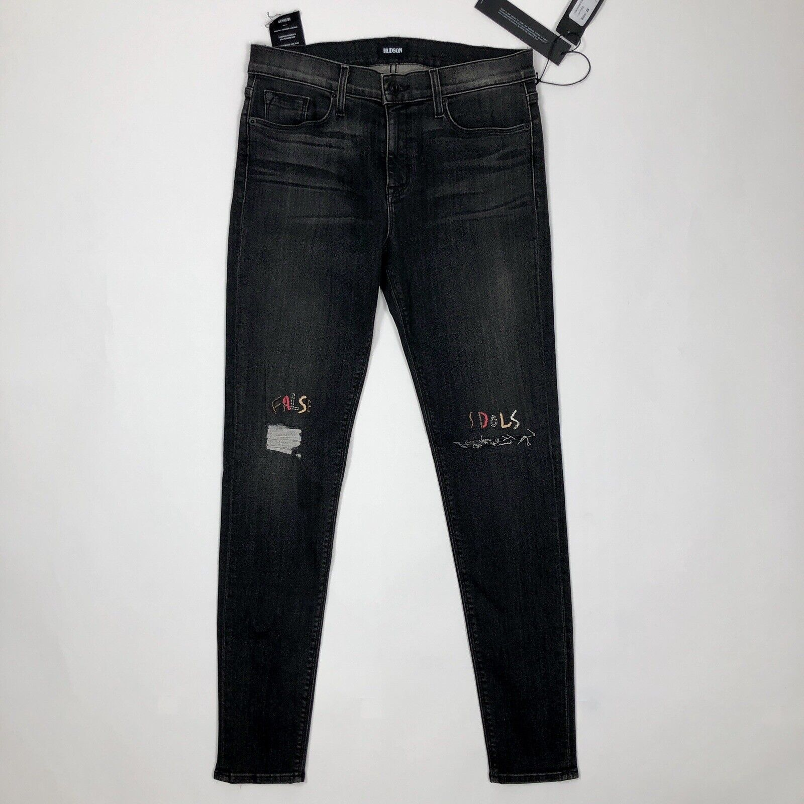 Hudson Womens Size 29  Nico  Midrise Super Skinny Reverie Denim Distressed Jeans