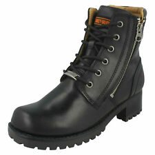 f406564ac1f1 item 3 LADIES HARLEY DAVIDSON LACE UP ZIP CASUAL LOW HEEL BLACK BIKER BOOTS  ASHER SIZE -LADIES HARLEY DAVIDSON LACE UP ZIP CASUAL LOW HEEL BLACK BIKER  BOOTS ...