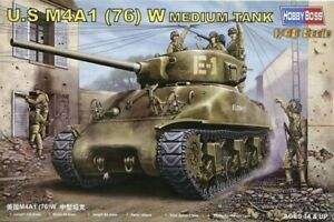 Hobby-Boss-1-48-M4A1-76-W-Tank-Plastic-Model-Kit-84801