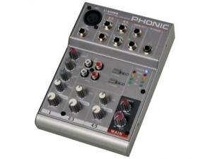 Phonic-AM-55-Mixer-Professional-Compact-with-5-Inputs-New