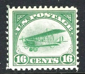 ST-US-C2-1st-Air-Mail-Issue-1918-039-Jenny-039-Mail-Plane-Mint-NH-OG