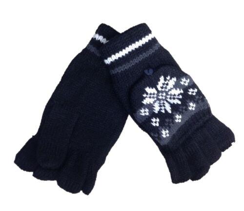 Fingerless Gloves Fairisle Mittens Combo by Rock Jock Warm Winter Cosy GLA-151