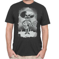 Guitar Day Of The Dead Shirt - Men's Guitar Mariachi Sugar Skull Shirt