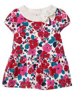 d7c93429d747 NWT Gymboree Precious Prep Floral Dress Baby Girl Toddler 0 3 6 12 ...
