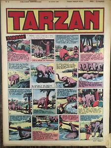 REVUE-TARZAN-1-ERE-SERIE-N-6-OCTOBRE-1946-PARFAIT-ETAT-NON-COUPE