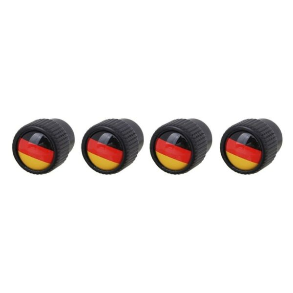 4 Pkw Ventilkappen Av Autoventil Schrader Im Deutschland Fahne Flaggen Design
