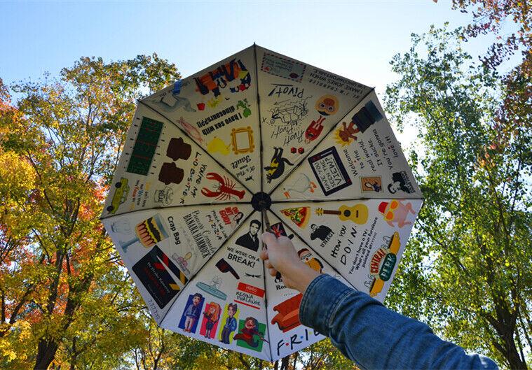 NEW Friends Tv Show Hugsy Central Perk Chandler Frame Umbrella Christmas Gift