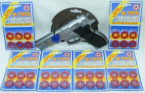 Pistolet à amorces 8 coups GONHER n°45 + 576 amorces Jouet Smith 45 Revolver