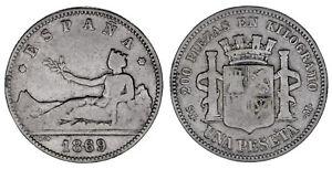 1-PESETA-Ag-PROVISIONAL-GOVERNMENT-GOBIERNO-PROVISIONAL-1869-VF-MBC-OFERTA