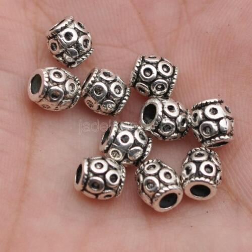 50pcs Tibetan Silver loose bead Spacer necklace Beads 5.5x6mm C3143