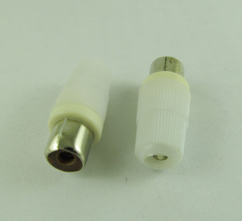 1x White Solder Type RCA Phono Female Jack Audio Video Cable Adapter Connector