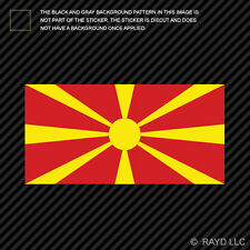 Round Macedonian Flag Sticker Decal Vinyl Macedonia MKD MK
