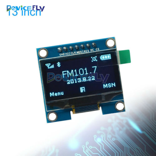 """1.3/"""" Blue SPI Serial 128x64 OLED LCD Display Screen Module For Arduino UNO R3"""