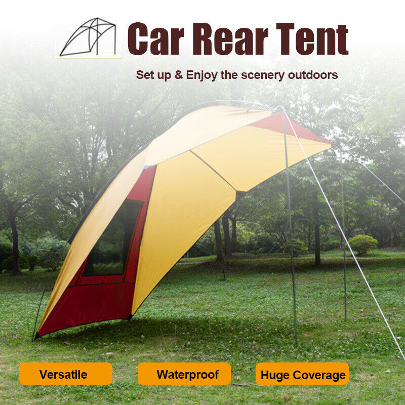 5-8 Person Waterproof Car Awning Rooftop Tent Sun Shade SUV Canopy Outdoor