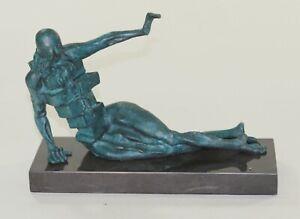 Da-Collezione-Statua-Bronzo-Scultura-Abstract-Rara-Salvador-Dali-Eleganti-Donna