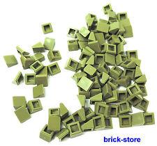 LEGO verde oliva/verde / 1x1 Tegole,Mattoncini obliqui / 100 Pezzi (BOX)