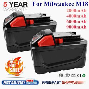 For-Milwaukee-M18-Li-Ion-XC-2-5-4-0-6-0-9-0Ah-Battery-48-11-1852-18V-Cordless