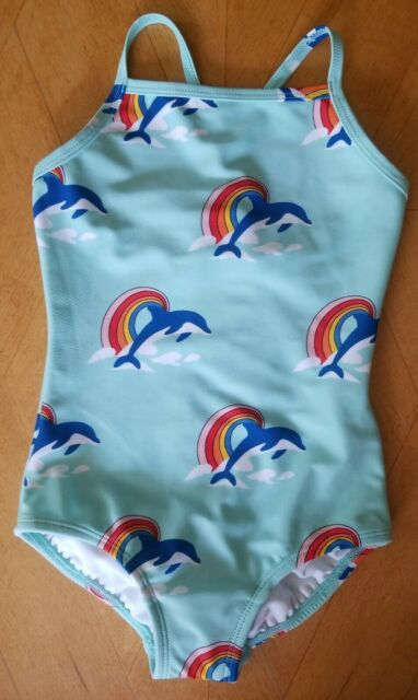 NWT Hanna Andersson Dolphin Rainbow Rashguard Swim Skirt 2PC Baby Toddler Girl