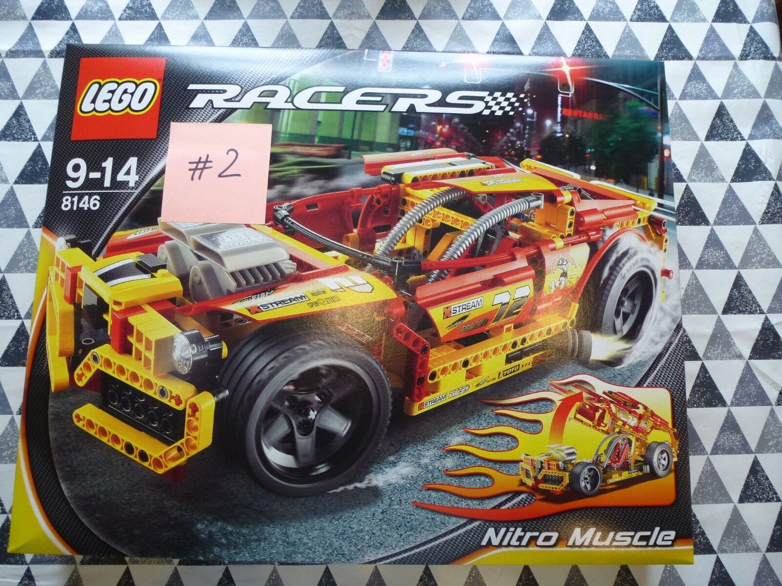 Lego  NOUVEAU  8146 Nitro Muscle Racer 2007  2 unique Arrière Pneus 598 PIECES TECHNIC