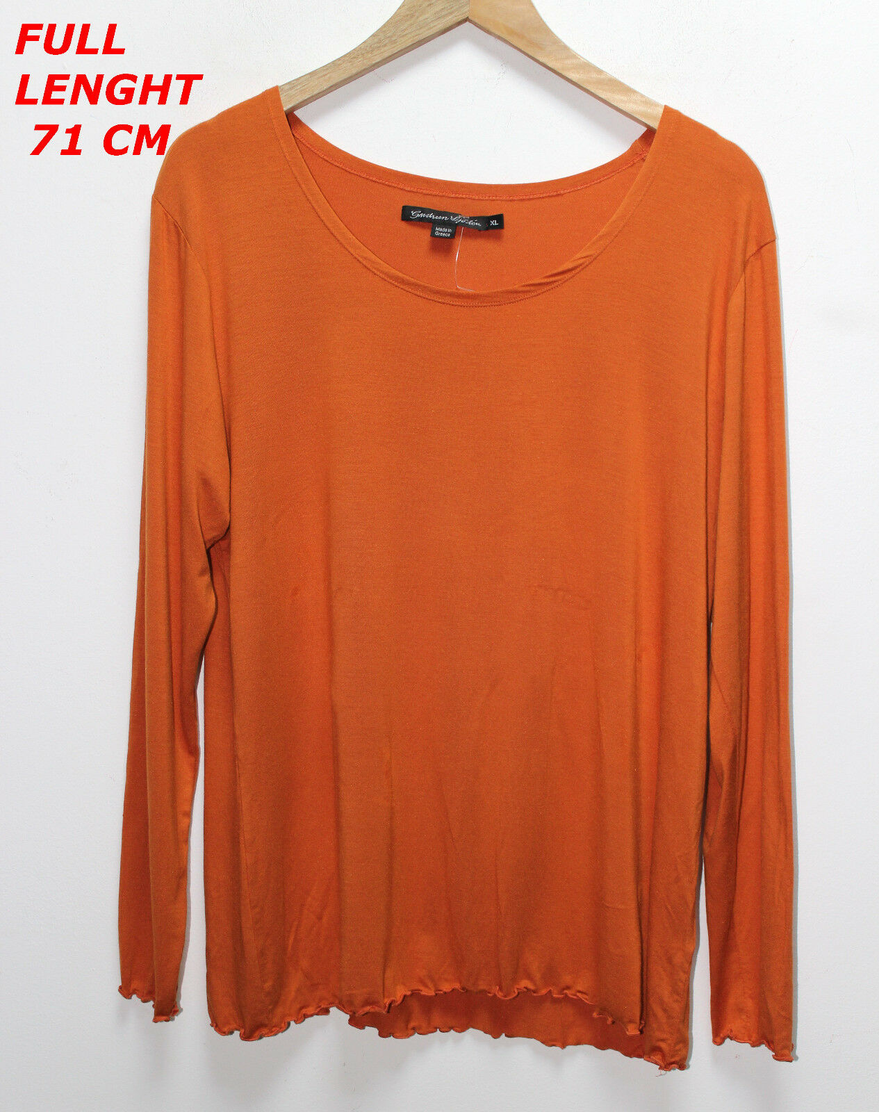 GUDRUN SJODEN SJÖDÉN  LADIES WOMAN BLOUSE SHIRT MARKED Größe XL Orange Farbe