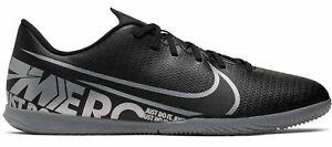 Nike-Herren-Hallenschuhe-Fussballschuhe-Nike-Vapor-13-Club-IC-schwarz-grau